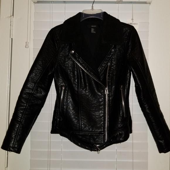 29cbbe89d Shearling Leather Biker Jacket